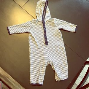 Ralph Lauren Baby Boys 1-piece hooded outfit